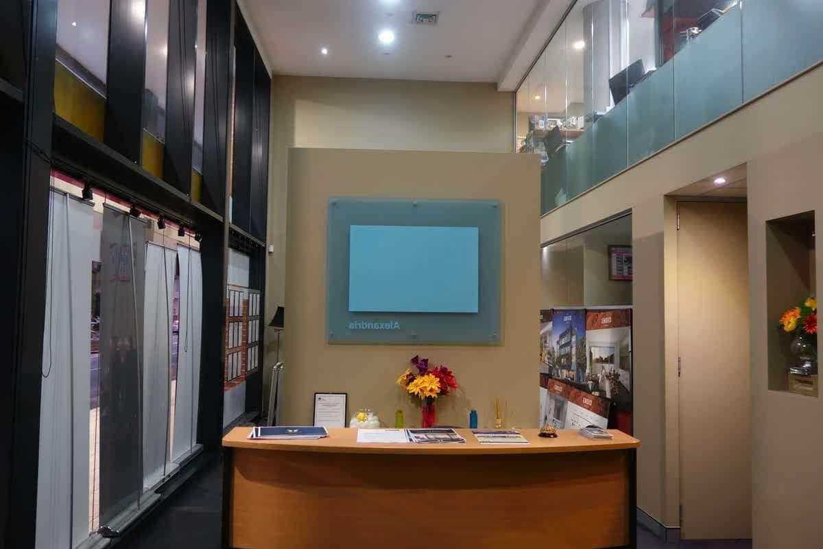 commercial reception area